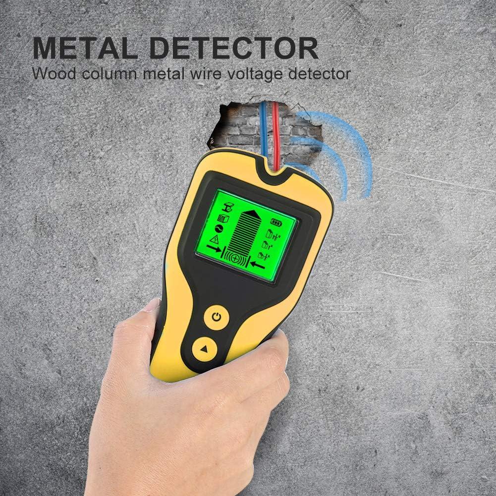 cable de CA localizador de sensor de perno electr/ónico 3 en 1 Esc/áner de pared HINMAY centro de b/úsqueda para madera viva detector de metales de pared