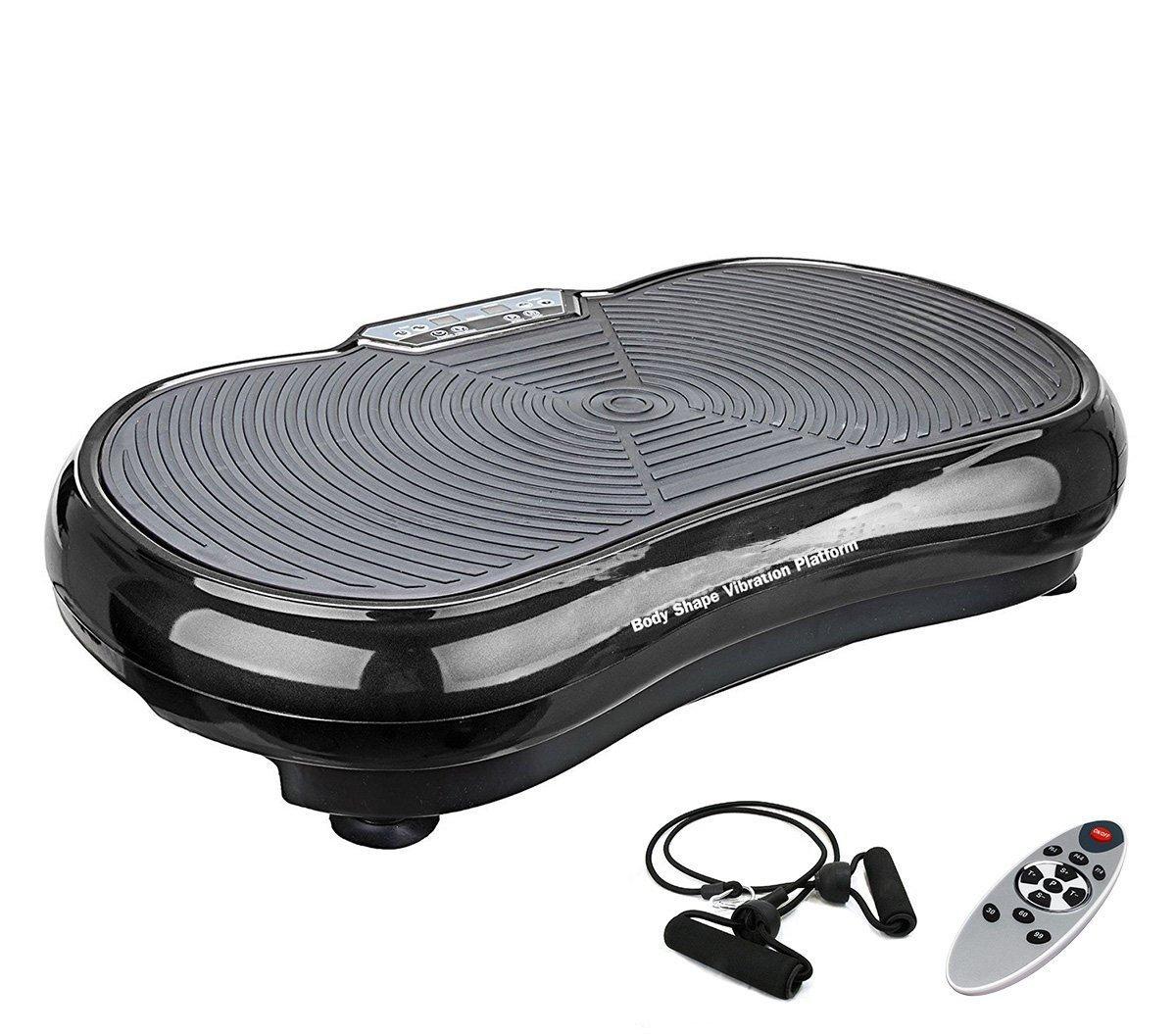 eshion NEW Vibration Machine Plate Platform Fitness Body Slim Shaper Massager (Black)