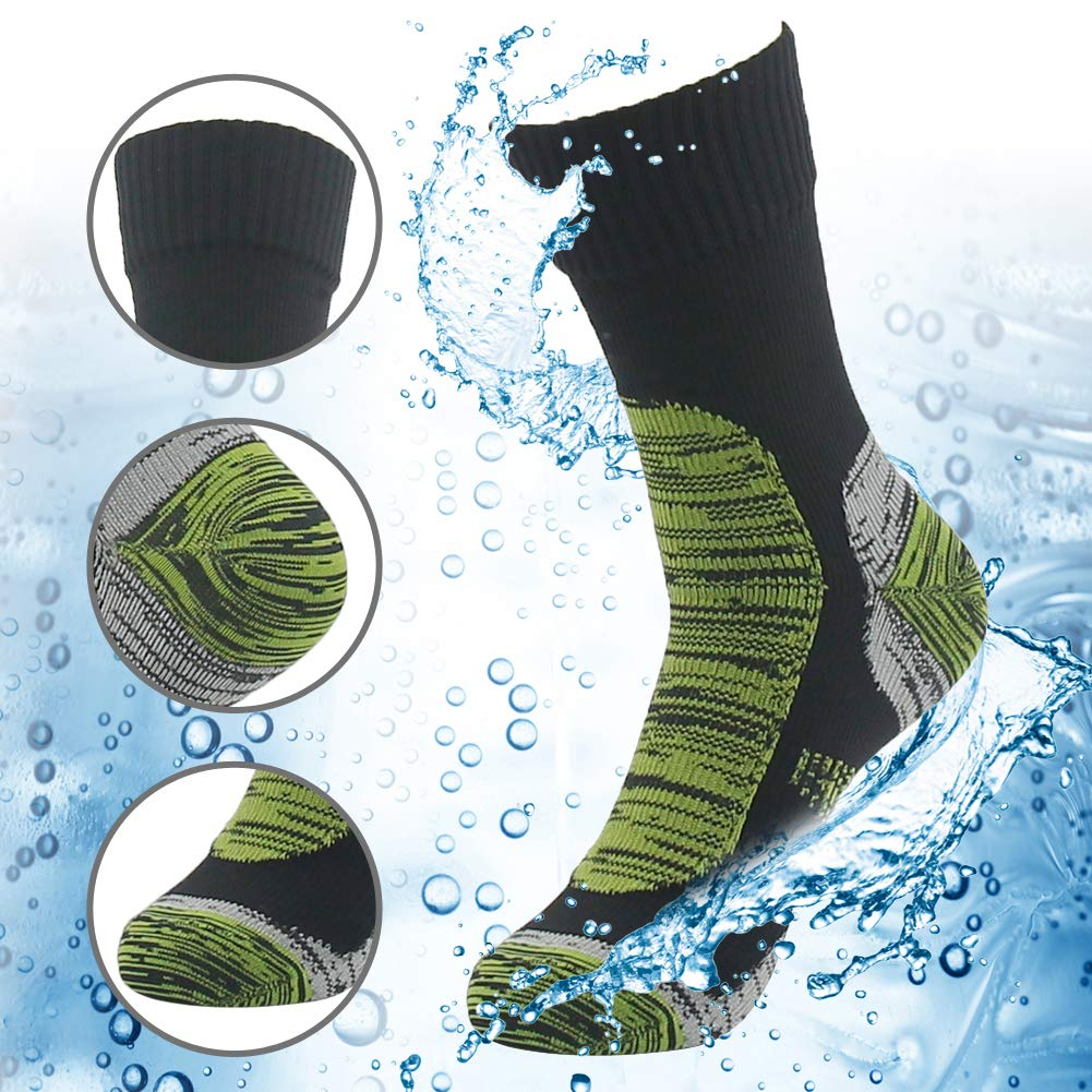 RANDY SUN 100% Waterproof Skiing Socks, Mens' Half-Cushion Dry Warm Multisport Sock Moisture Control & Comfort Medium by RANDY SUN