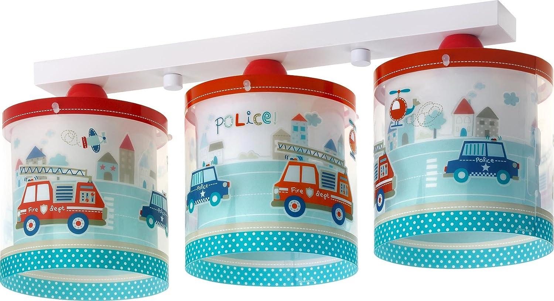 LED Lampe Kinderzimmer Decke Deckenleuchte Feuerwehr 60613 warmweiß ...