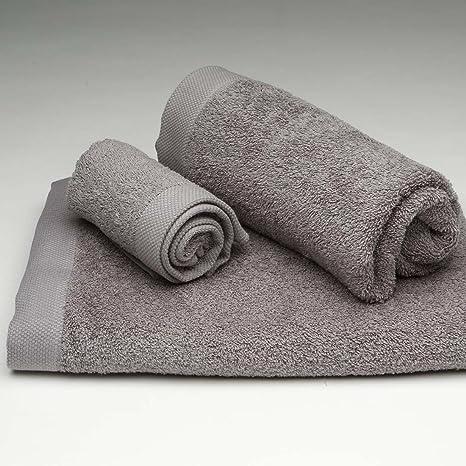 Burrito Blanco Juego de Toallas de Baño Lisas 3 Piezas (1 toalla de Ducha de