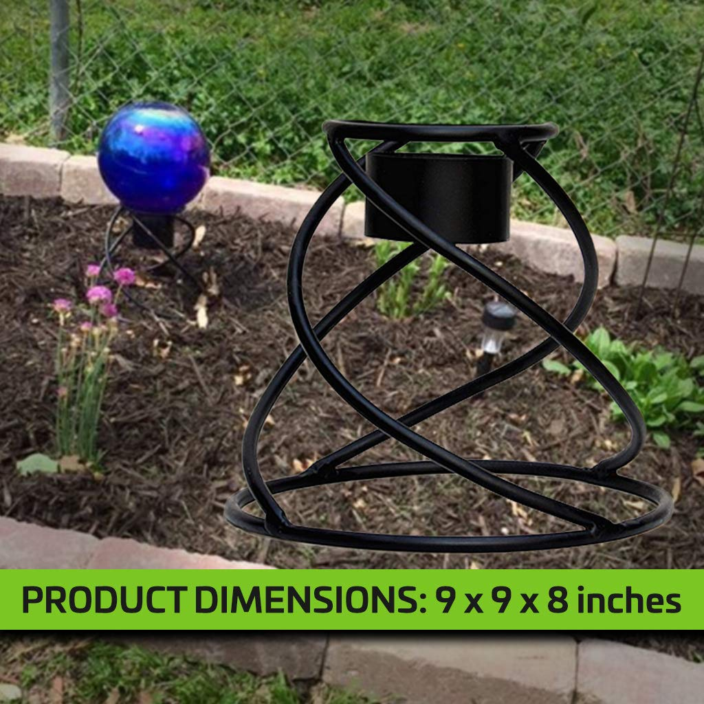 Gaze Ball Holder Small Helix Globe Stand Powder-Coated and Hand-Welded to Ensure Years of Use and Enjoyment Weatherproof; Can Be Used Indoors or Out Stand Is 8'' Tall Beautiful Spiral Design by AnySeasonStore (Image #3)