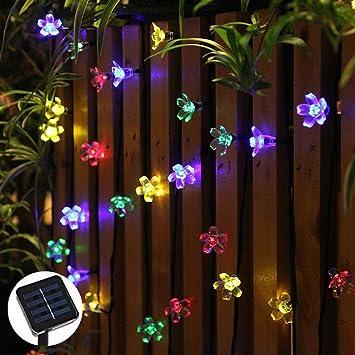 ohuhu solares luces de la secuencia luz de navidad para el arbol de navidad