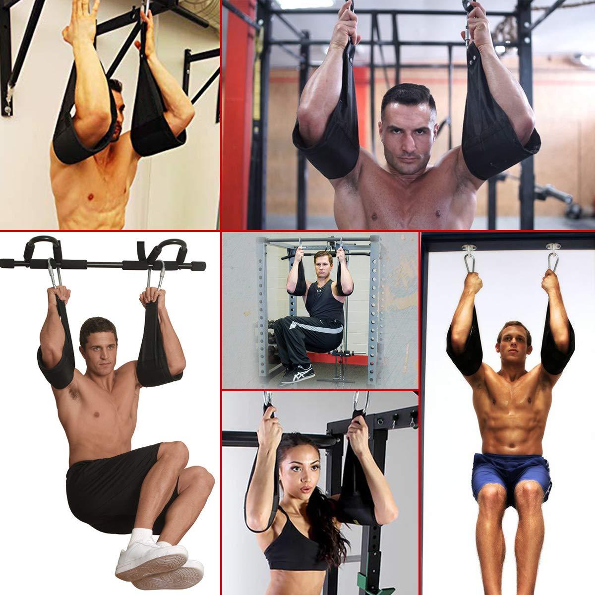 Flytool Ab Straps Core Exercise Equipment Training Gym Abdominal Hanging Straps, Black by Flytool (Image #7)