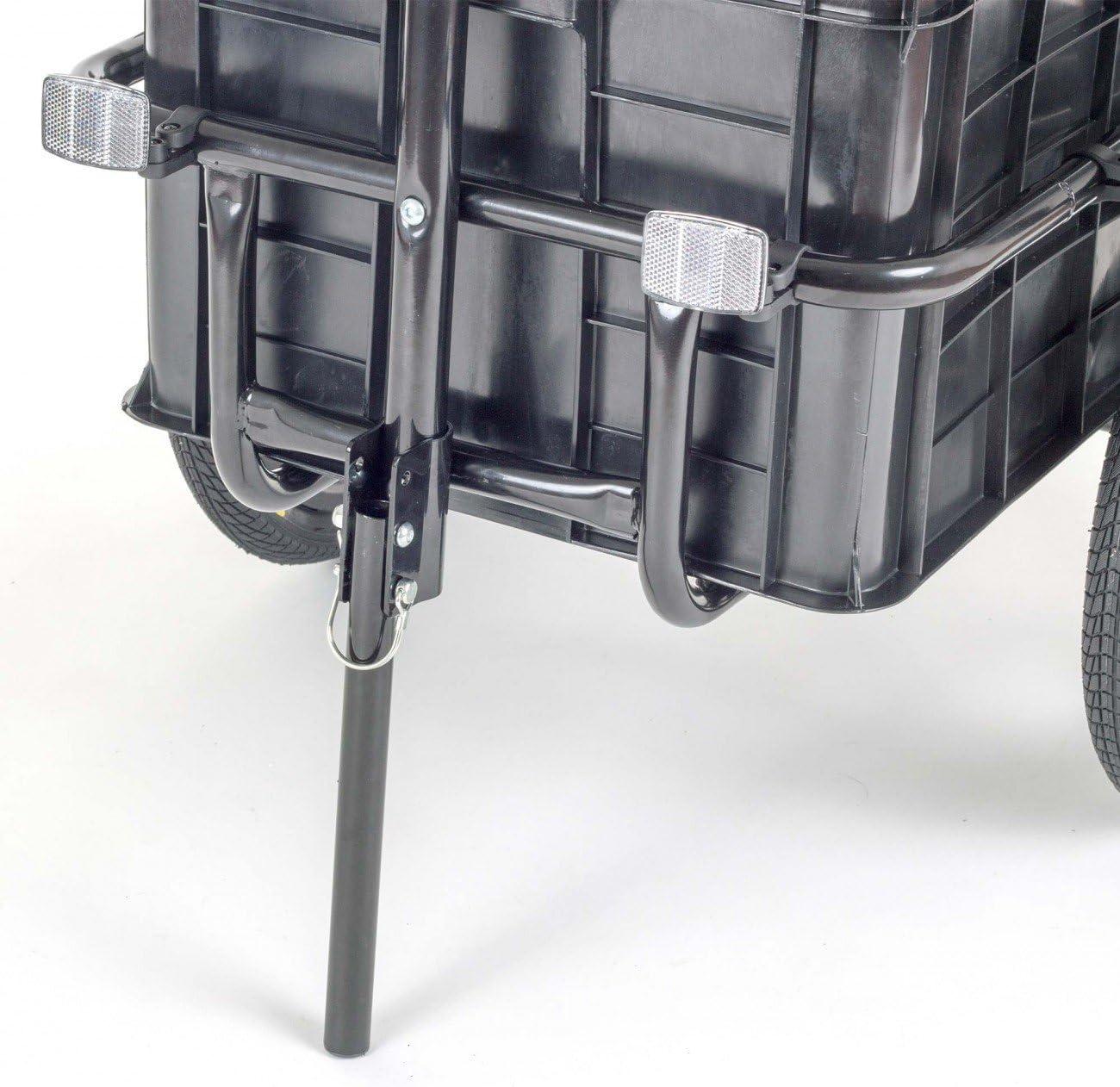 weitere Farben verf/ügbar 70 Liter in Gelb SAMAX Transportanh/änger Fahrradanh/änger Lastenanh/änger Fahrrad Anh/änger Handwagen mit Kunststoffwanne f/ür 60 Kg