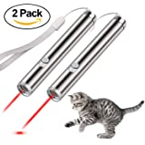 Creaker 2 in 1 Multi Function Funny Cat Chaser Toys Mini Flashlight & Interactive Pet Toys Cat Light Pointers Cat Training Tool