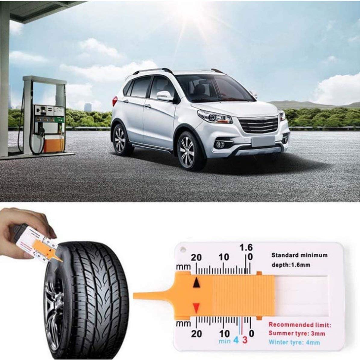 Measure Tool Tyre Tread Depth Gauge Tread Depth Meter for Car Trailer Motorcycle Caravan Trailer Wheel Car Accessories MarinoBIRD