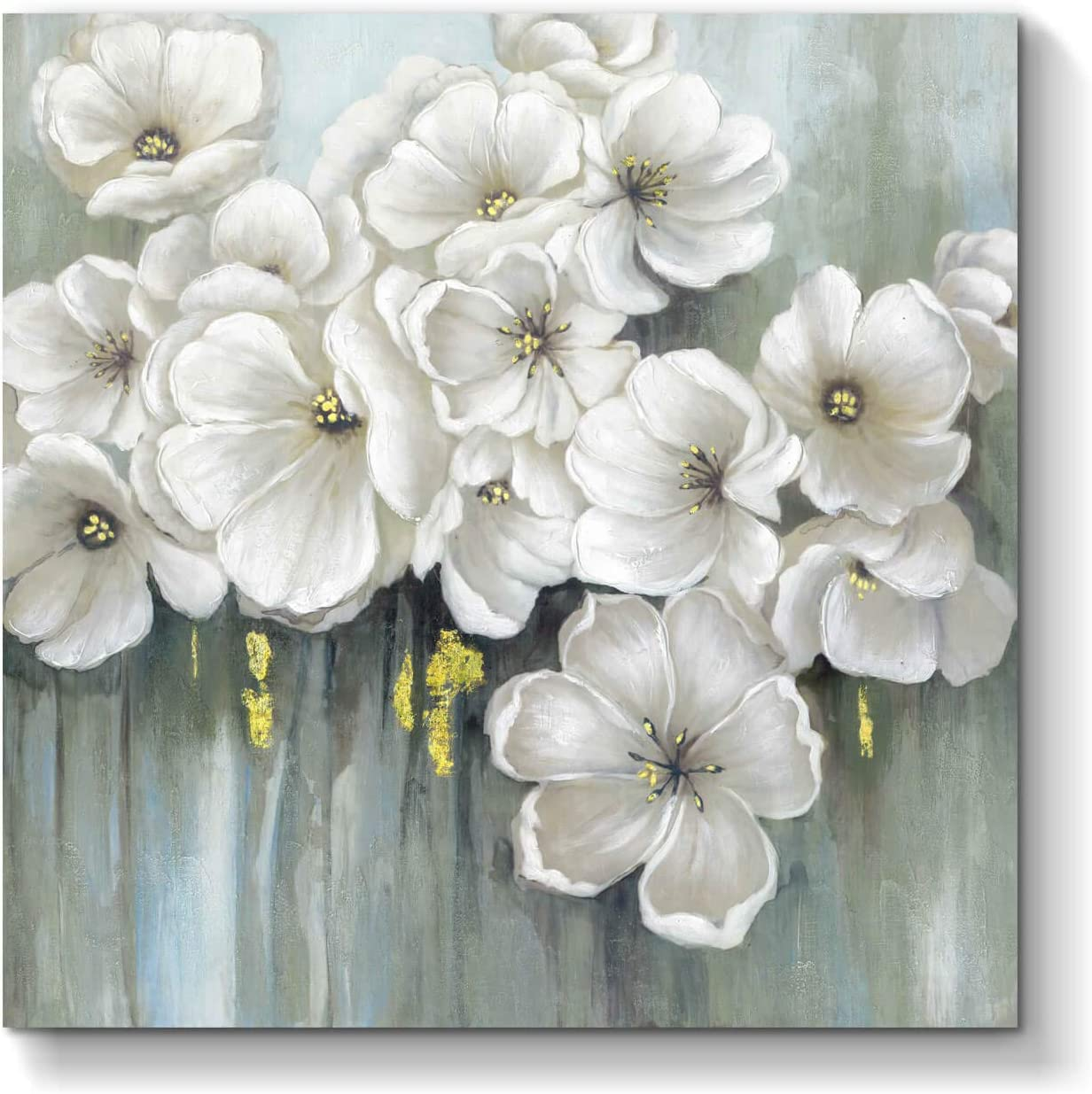 Abstract Flower Picture Wall Art Floral Artwork Blossom Painting Print On Canvas For Dining Room 28 X 28 X 1 Panel Posters Prints
