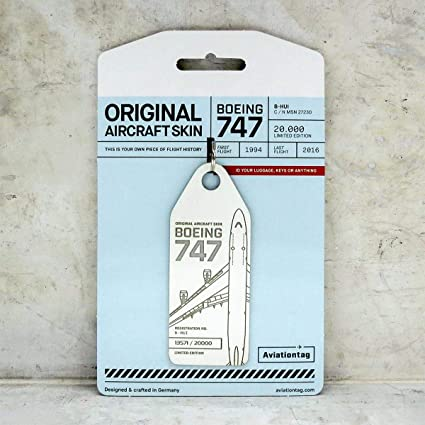 Amazon.com: AVT017 AviationTag Boeing 747 (Cathay Pacific ...
