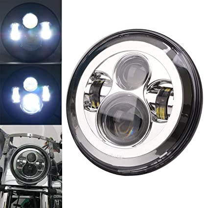 Motorcycle Headlamp 7 Round Led Lamp Headlight 7 Motorcycle Mounting Bracket Ring For Harley Street Glide Road King Electra Home