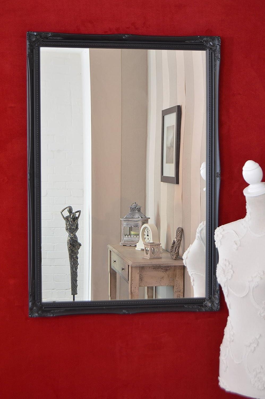 Frames by Post Large 5, 1cm Nero Shabby Chic Style Specchio da Parete Rettangolare–Grandi Dimensioni: 101, 6x 71, 1cm MirrorOutlet