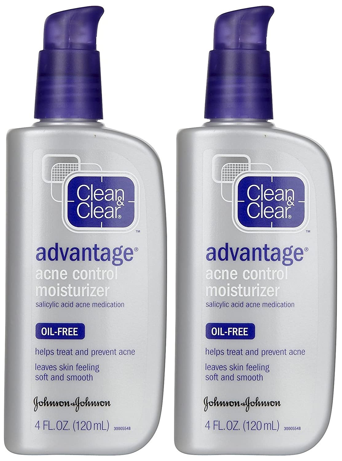 Clean And Clear Advantage Oil Free Acne Moisturizer - 4 Oz, 6 Pack Lip Balm Organic (Vanilla & Honey) 4 Tube Pack Pure and Natural Beeswax Lip Butter with Aloe Vera, Vitamin E for a Clear Gloss Moisturize, Repair Dry, Cracked or Chapped Lips, Best Gift Made in USA