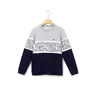91de483727 Lacoste x Keith Haring - Sweat-Shirt Enfant - SJ4453: Amazon.fr ...