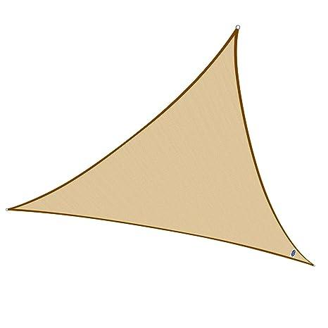 Cool Area Toldo Vela triángulo 3 x 3 x 3 Metros HDPE protección UV, Color