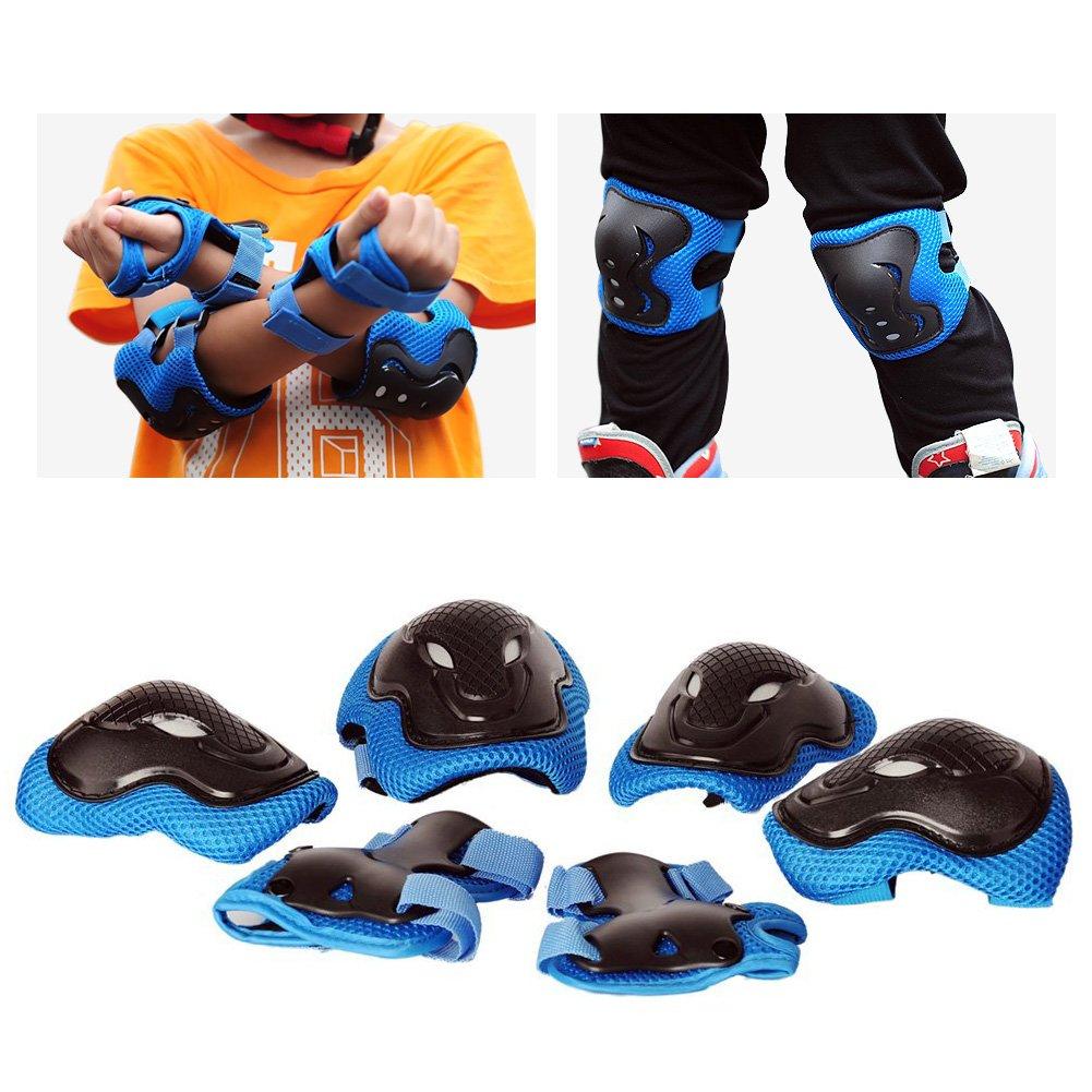 CPSC Certified Impact Resistance for Multi-Sports Cycling Skateboarding Scooter Roller Skate Inline Skating aomigell Kids Skateboard Helmet Boys Girls Bike Helmet with Knee//Elbow//Wrist Pads