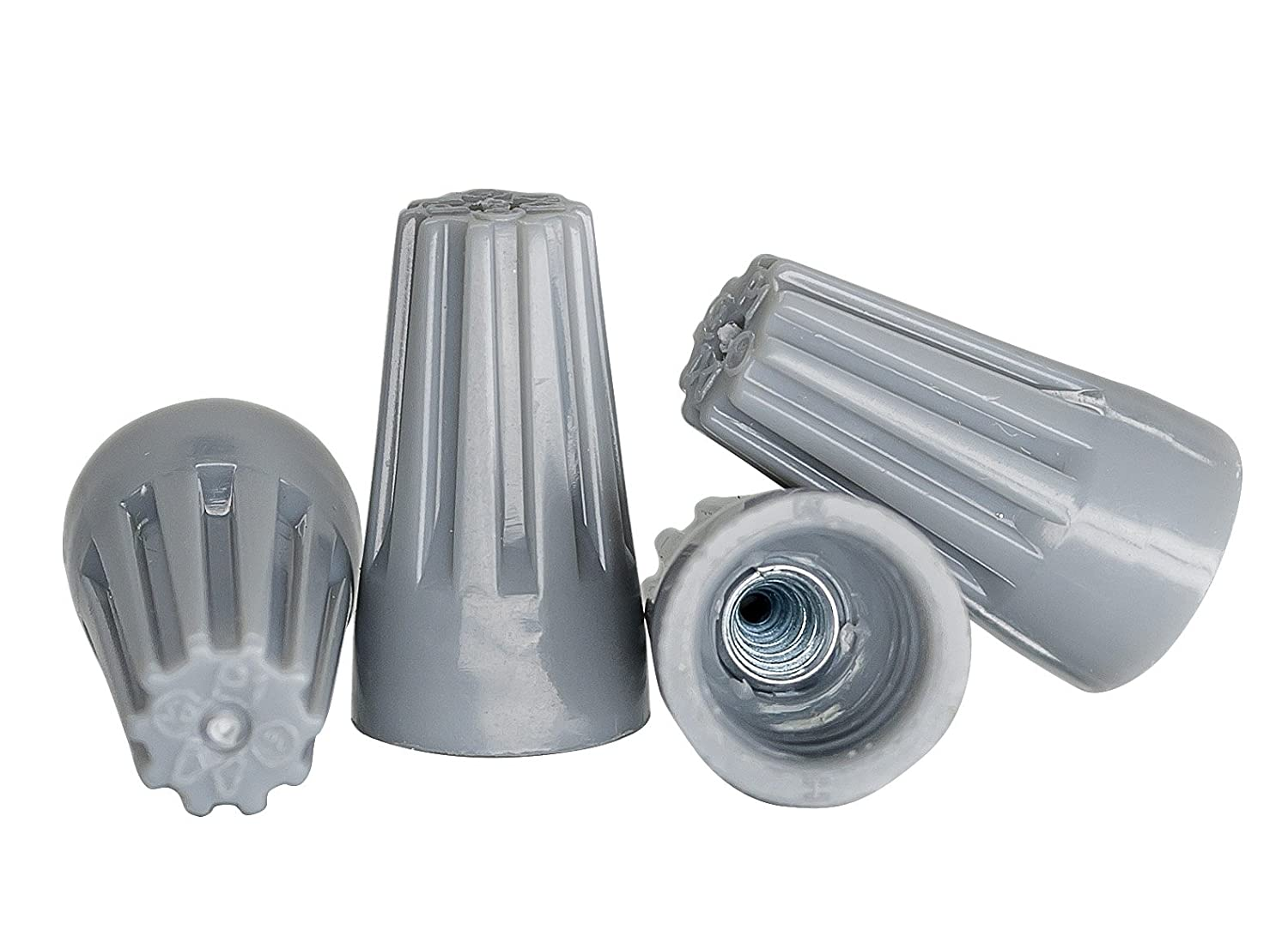 Grey Wire Connectors Bulk Bag of 1 000 UL Listed Twist On P1 Type Easy Screw On Cap