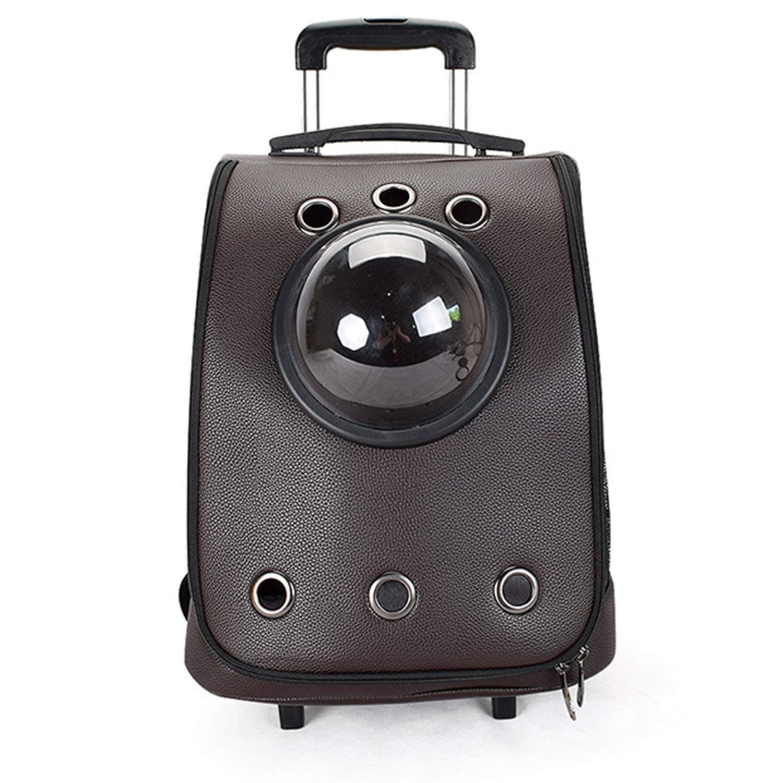 Black Outing Shoulder Cat and Dog Backpack Trolley Convenient Space Bag Folding Breathable Cat Bag Pet Bag 35X35X50cm