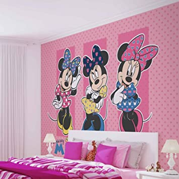 Papier Peint Photo Mural 1677p8 Collection Disney Minnie Mickey