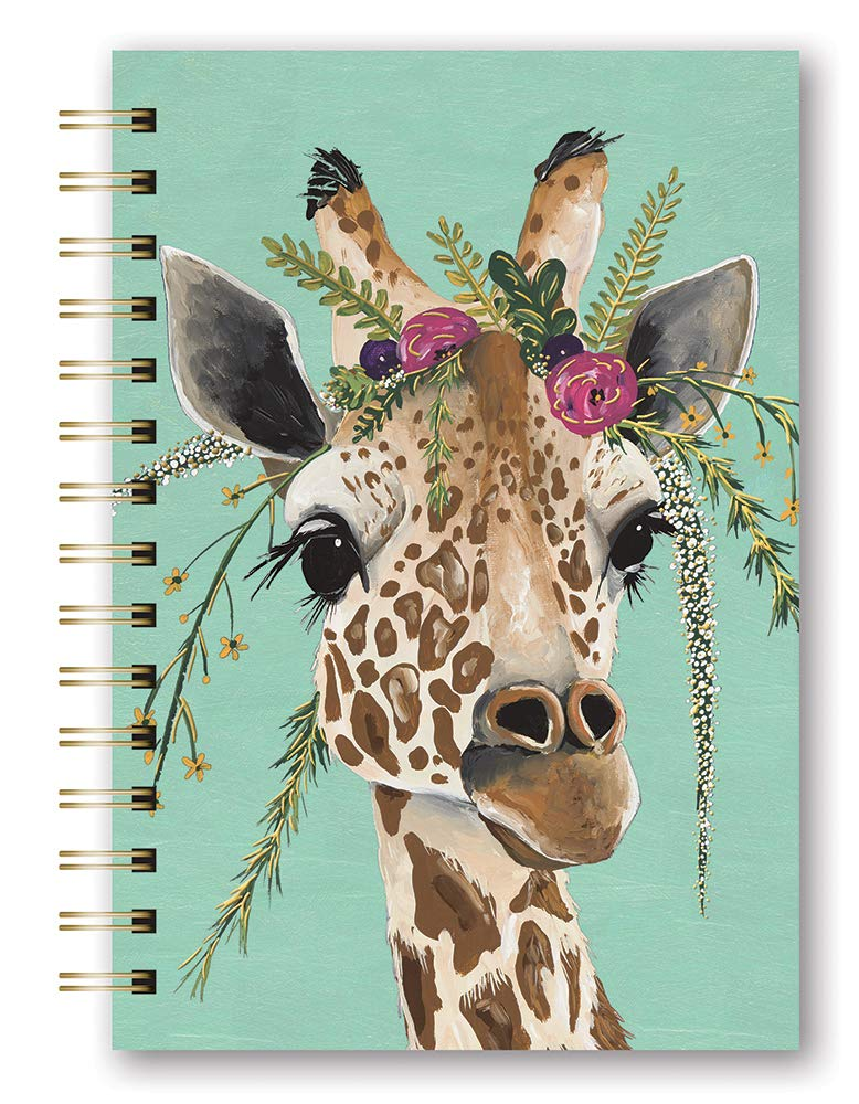 Orange Circle Studio 2020 Medium Spiral Planner, August 2019 - December 2020, Claire Giraffe by Orange Circle Studio