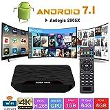 TV Box Android 7.1 - VIDEN W1 Smart TV Box Amlogic S905X Quad-Core, 1GB RAM & 8GB ROM, Video 4K UHD H.265, 2 Porte USB, HDMI, WiFi Web TV Box [Nuova versione]