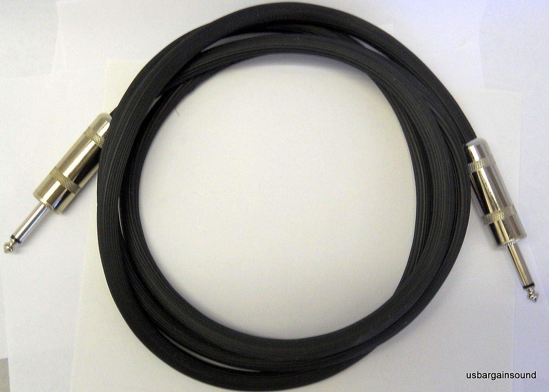 6 Foot 14 Gauge Speaker Cable with Jumbo 1//4 Connectors ProCraft PSP14-6-QQ