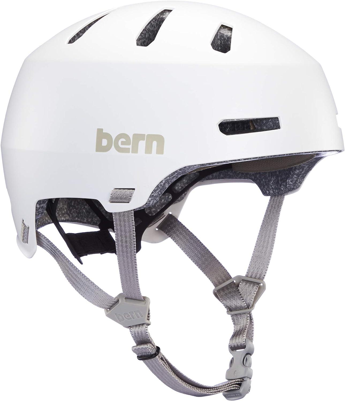 Bern Macon 2.0 Casque de v/élo Unisexe Blanc Taille M