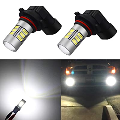 Alla Lighting Super Bright H10 9145 LED Fog Lights Bulbs 4014 54-SMD 12V 6500K Xenon White 9140 9045 Car's Truck's Fog Lights Replacement: Automotive