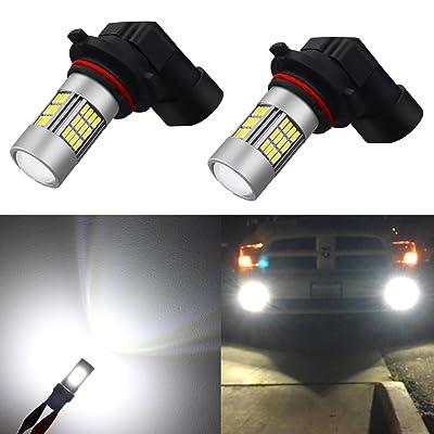Alla Lighting Super Bright HB4 9006 LED Fog Lights Bulbs 4014 54-SMD LED 9006 Fog Light Bulb 6000K Xenon White HB4 9006 LED Bulbs for Cars Trucks Fog Lights Replacement (Set of 2): Automotive