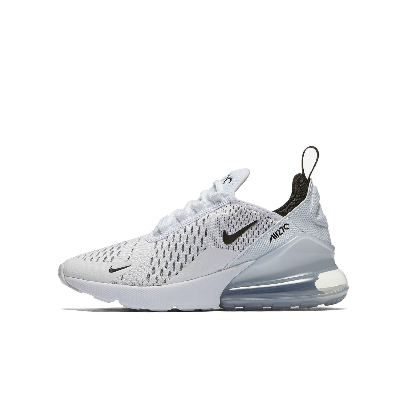 Nike Air Max 270 Big Kids' Running Shoes WhiteBlack White 943345 100 (6.5 M US)
