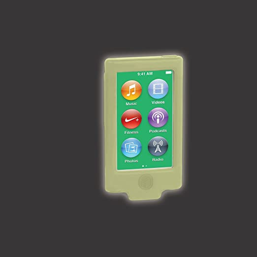 Schutzhülle Silikon Anti-Fußbodenlack für neue GENERATION iPod Nano Hellgrün