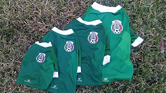 Amazon.com : Mexico DOG T-Shirt Worldcup Shirt camisetas para perros selecciones futbol soccer (XS) : Pet Supplies