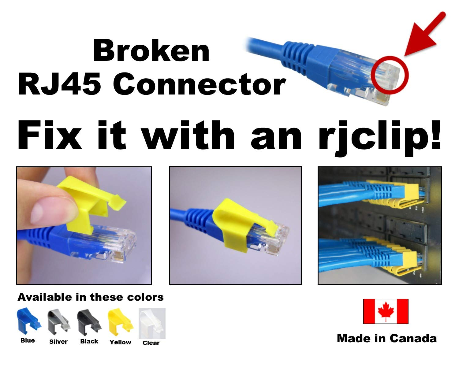Enjoyable Rjclip Broken Rj45 Connector Solution 10 Pcs Assorted Colours Of Black Silver Blue Yellow Clear Wiring 101 Ariotwise Assnl