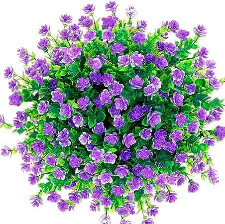 CQURE Flores Artificiales, Flores Artificiales de eucalipto, Ramo ...