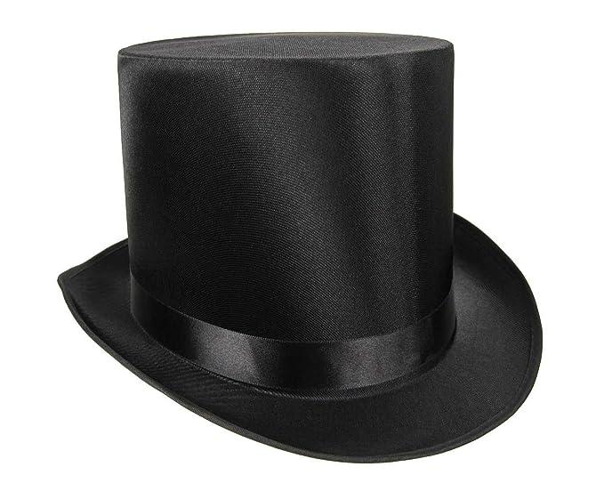 Amazon.com  Nicky Bigs Novelties Tall Black Satin Top Hat 4f0b7b42fc8