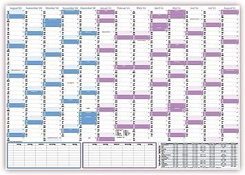 13 Monate August 20 bis August 21 Schuljahreskalender 2020//21 DIN B1 gerollt