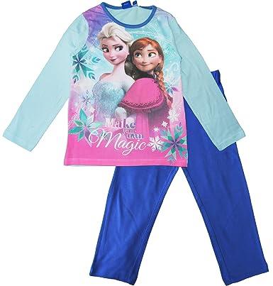 Disney Eiskönigin Elsa Nachthemd Pyjama Schlafanzug Nachtwäsche türkis kurzarm