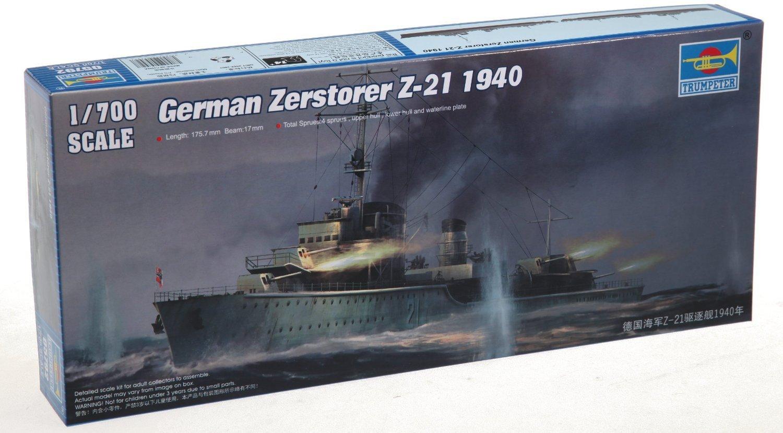 Trumpeter 1/700 German Zerstorer Z21 Destroyer 1940 Model Kit [並行輸入品]   B015T7G7HI