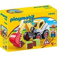 PLAYMOBIL PLAYMOBIL-70125 1.2.3 Pala Excavadora, Multicolor, Talla única