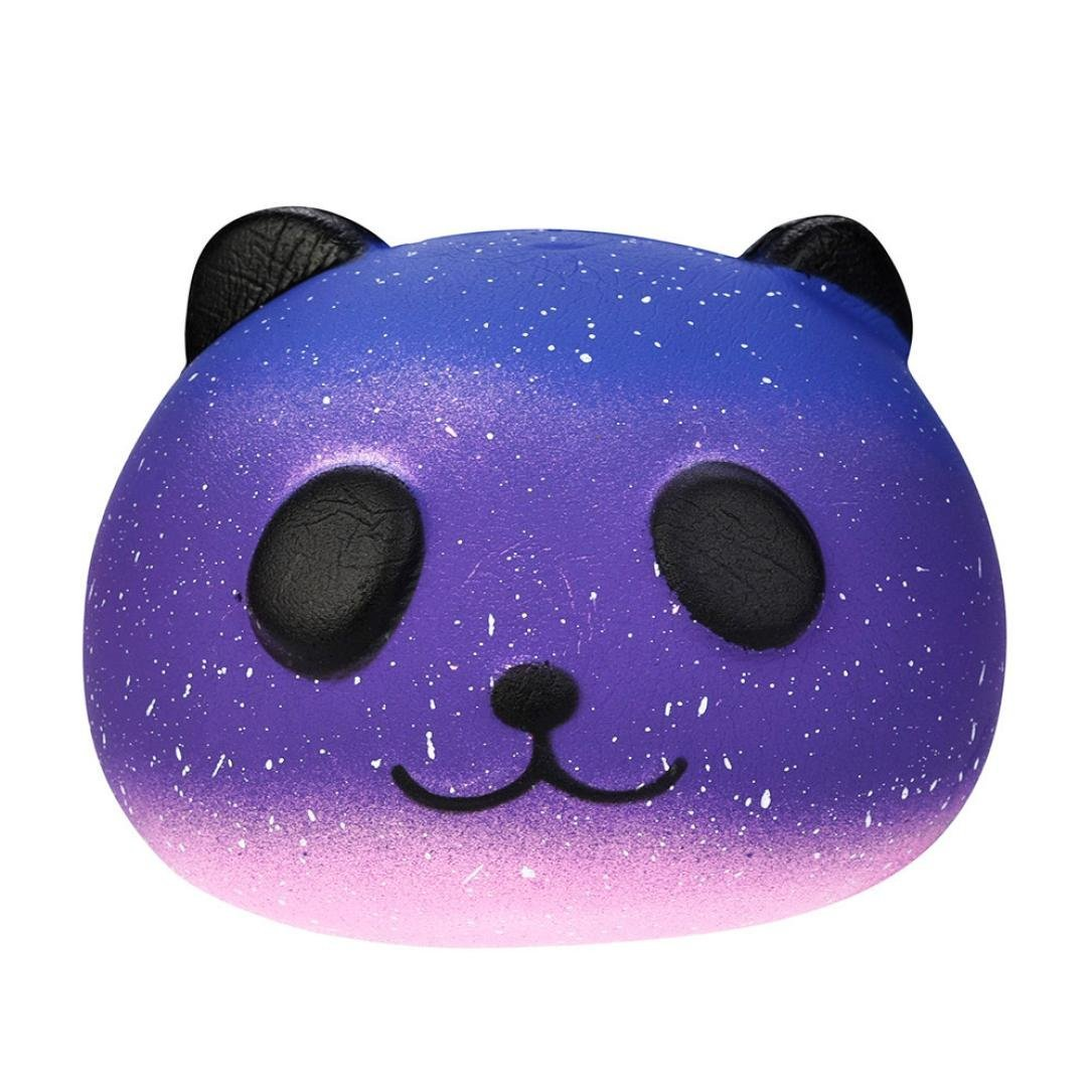 Drfoytg 2018 Hot,Cute Squishy Kawaii Panda Decompression Toy Cream Scented Squeeze Slow Rising Stress Reliever Galaxy (Purple)