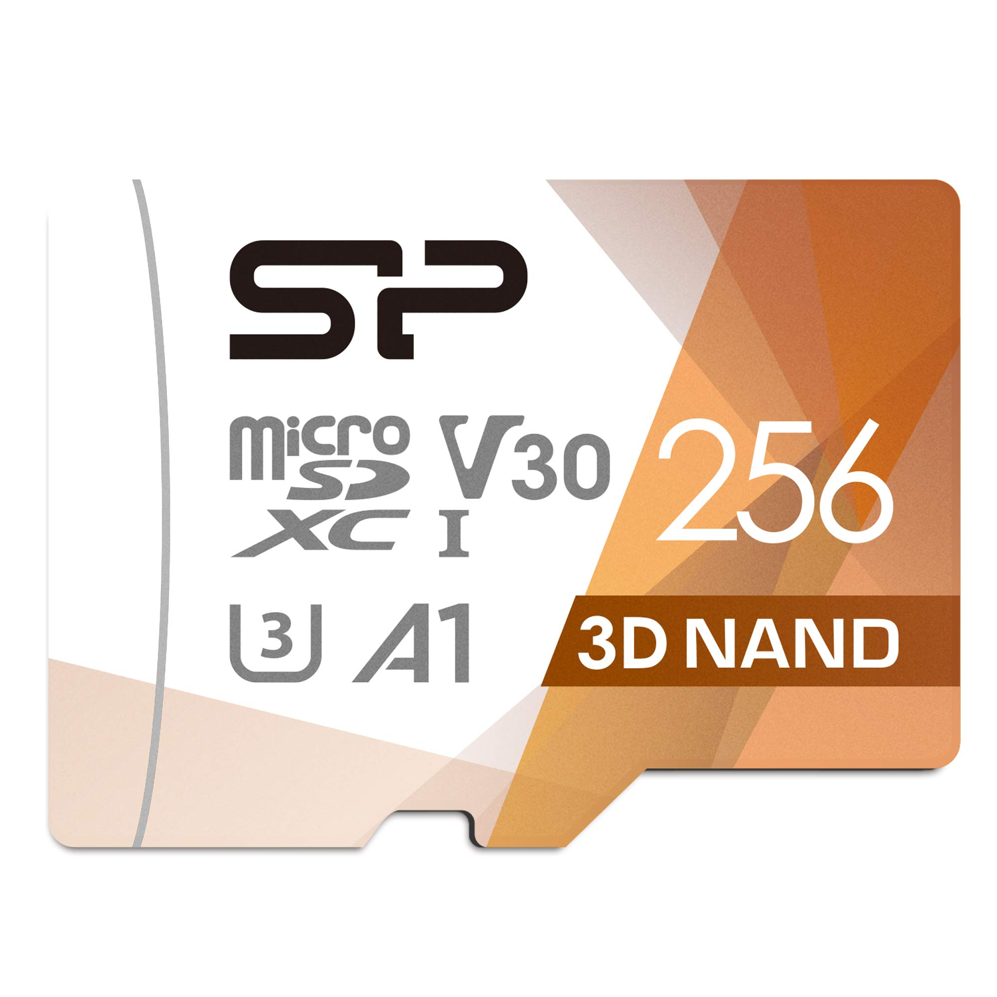 Silicon Power 256GB R/W up to 100/ 80MB/s Superior Pro microSDXC UHS-I (U3), V30 4K A1, High Speed MicroSD Card with Adapter by SP Silicon Power