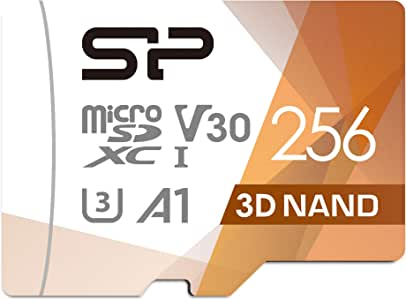 Silicon Power U3 256GB Micro SD Card 100MB/s Read & 80MB/s Write Class 10 High Speed Memory Card with Adapter