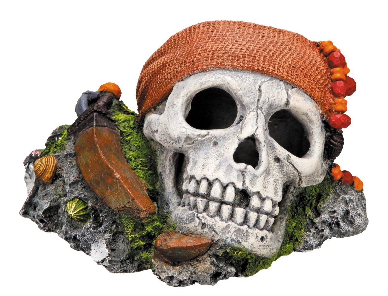 Nobby 28146 Décoration d'aquarium Modèle crâne de pirate