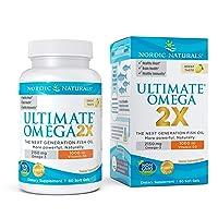 Nordic Naturals Ultimate Omega 2X with Vitamin D3, Lemon Flavor - 2150 mg Omega-3 + 1000 IU D3-60 Soft Gels - Omega-3 Fish Oil - EPA & DHA - Brain, Heart, Joint, Immune Health - 30 Servings