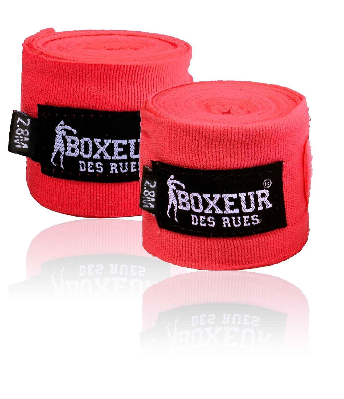 BOXEUR DES RUES Fight Activewear, Fasce per Le Mani Semi-rigide Uomo, Blu, 2.80 m 413216