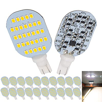 1voi Super Bright T10 921 194 LED Bulbs 31-SMD for RV Indoor Lights Natural White Pack of 20: Automotive