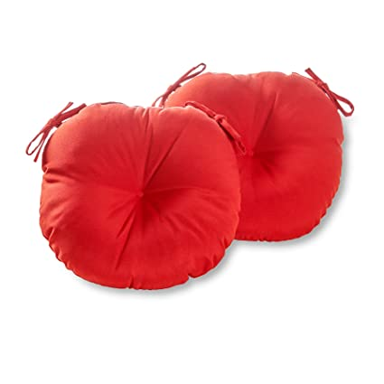 Greendale Home Fashions 15 Inch Round Indoor/Outdoor Bistro Chair Cushion,  Salsa,