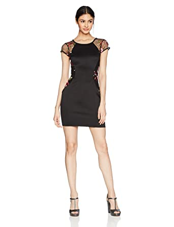 252413a1d Amazon.com: A. Byer Women's Cap Sleeve Fitted Dress (Junior's): Clothing