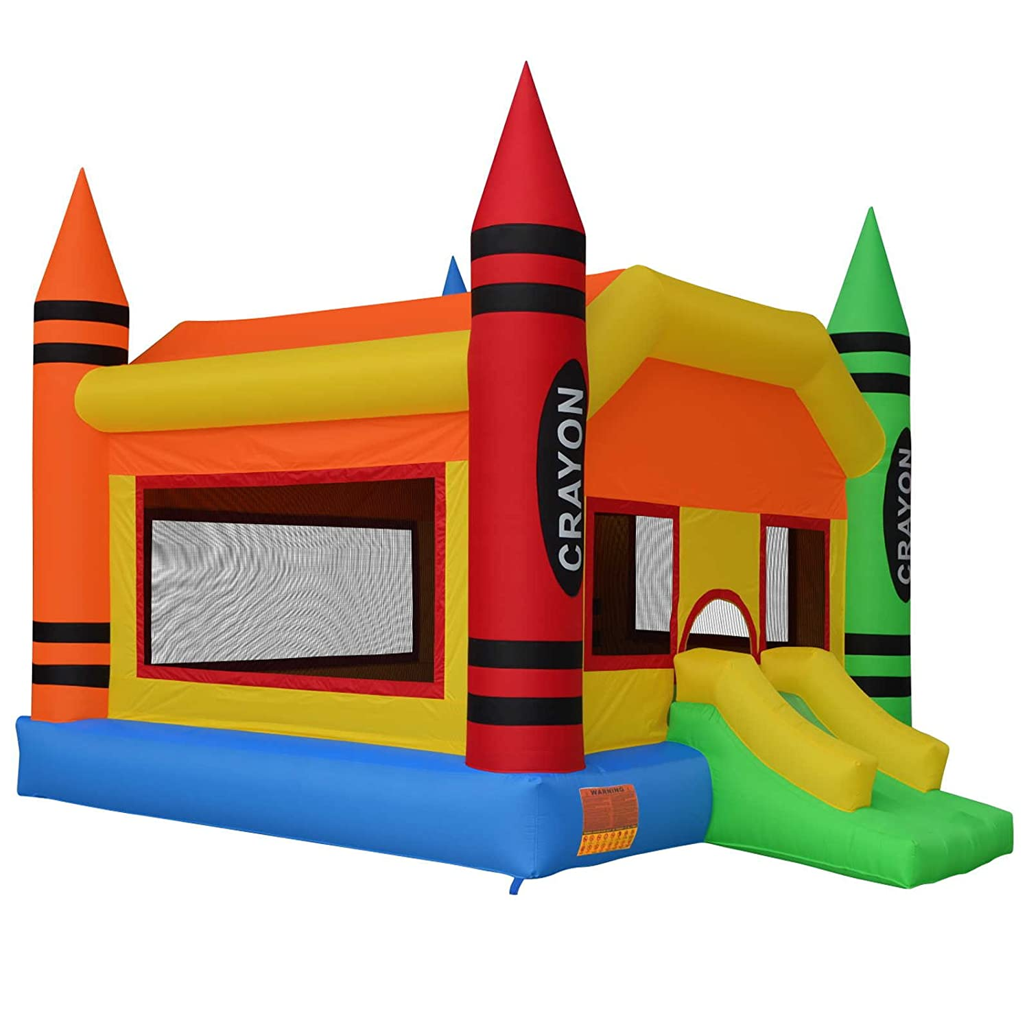 amazoncom cloud 9 the crayon bounce house large inflatable bouncing jumper with slide without blower toys u0026 games - Bounce House For Sale
