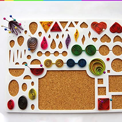Amazon Com New Quilling Template Board Papercraft Tool Scrapbooks