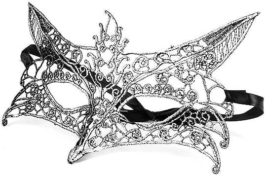 NA Máscara de zorro veneciana veneciana para mujer Máscara de ...